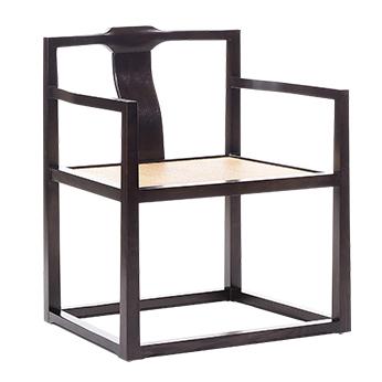 新中式禅意茶室主人椅 仿古太师椅