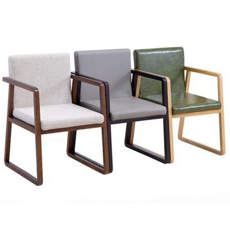 现代布艺靠背扶手茶餐厅椅子
