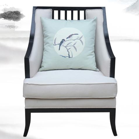 新中式茶馆家具椅子_布艺高背茶餐厅椅-厂家定做直销