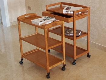 实木平板三层加万向轮菜架-菜架厂家定做批发直销