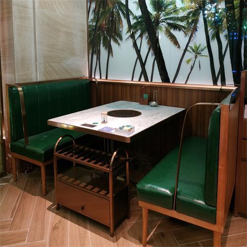 椰子鸡火锅餐厅4人位大理石电磁炉火锅桌