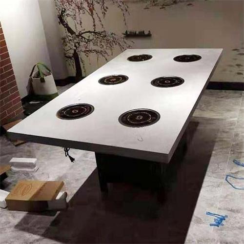 大理石火锅桌子6人一人一锅人小火锅