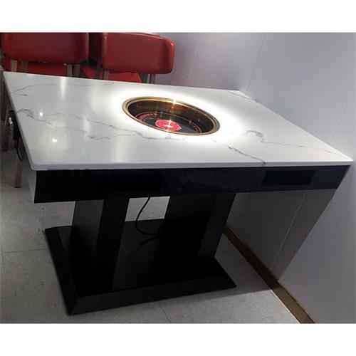 火锅店新式火锅电磁炉四人餐桌