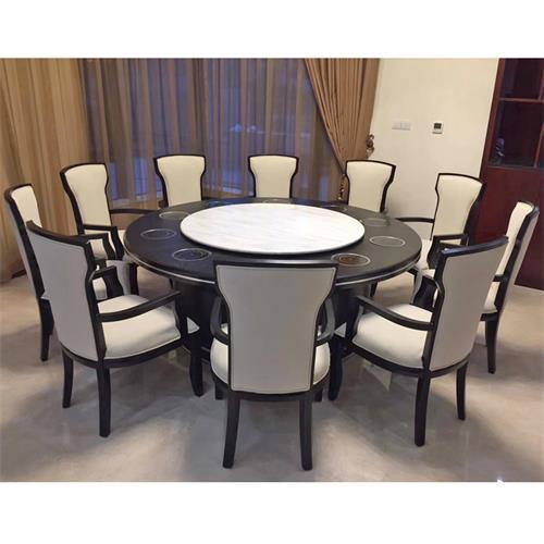 酒店大理石火锅餐桌_自带电磁炉的小火锅桌子