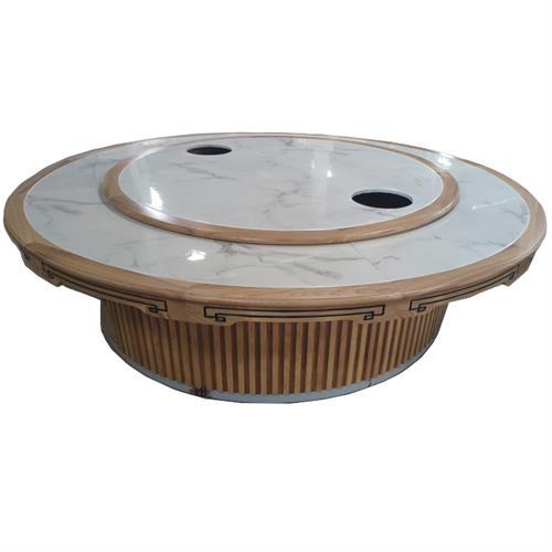 带电磁炉和转盘电动圆餐桌_转盘电磁炉火锅桌