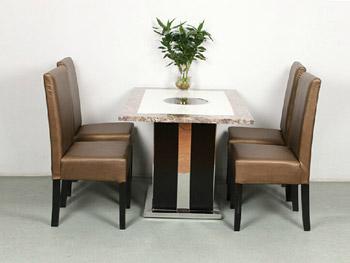 长方形大理石现代简约火锅桌-方形大理石火锅桌家具定做厂家