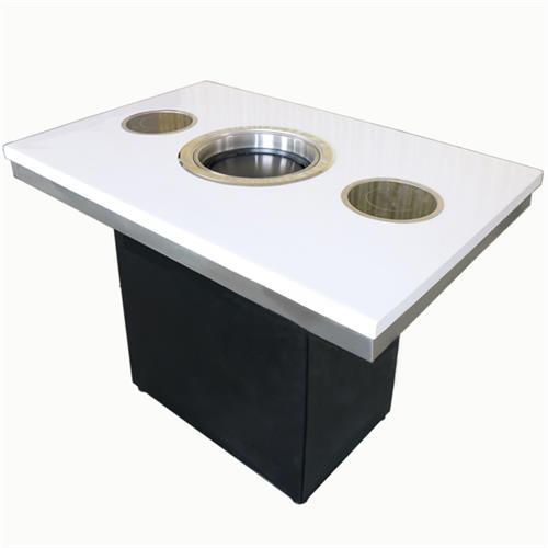 自助火锅烧烤一体餐桌 大理石烤涮一体桌