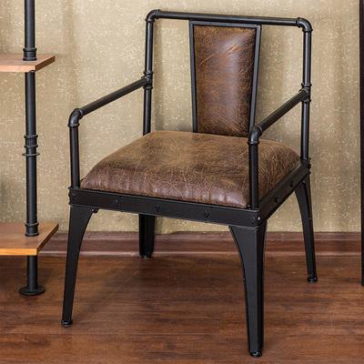 美式铁艺工业风沙发椅 咖啡厅休闲酒吧卡座长椅子