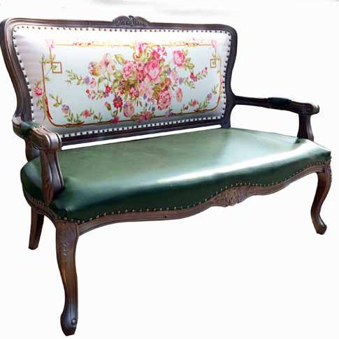 美式乡村实木双人沙发 新古典皮艺沙发 咖啡厅休闲沙发