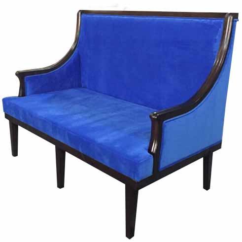 咖啡厅餐厅_甜品店_火锅店新中式实木沙发椅