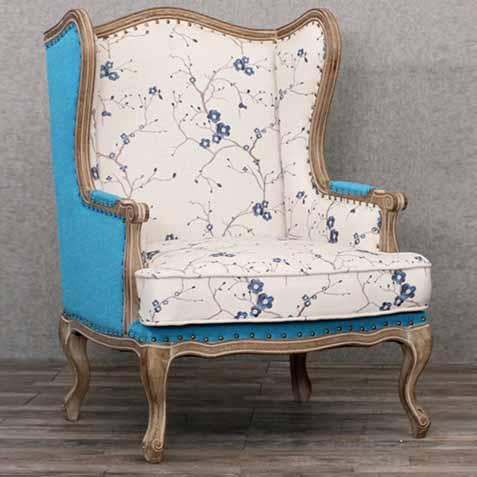 北欧法式橡木复古亚麻时尚高背咖啡厅布艺沙发休闲椅