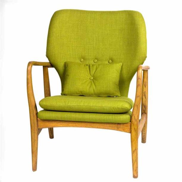 单人布艺沙发 个性创意北欧沙发椅实木休闲沙发椅子
