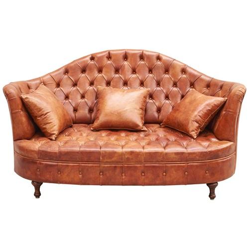 会所别墅欧式新古典特色真皮沙发
