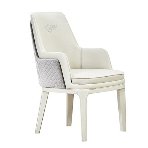 高档会所时尚超纤皮革软包扶手椅