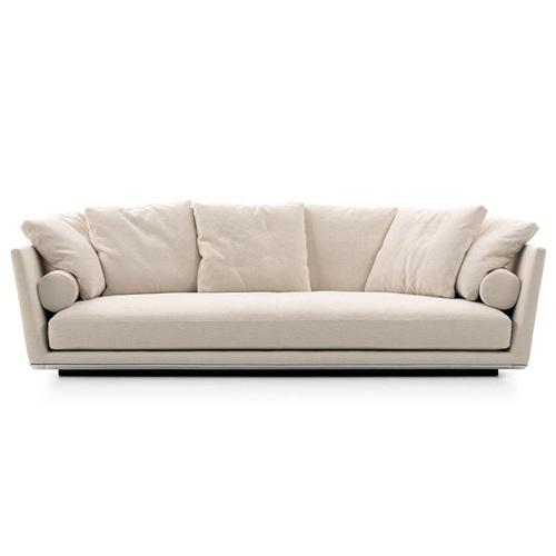 音乐会所意式时尚乳胶羽绒皮艺三人位沙发