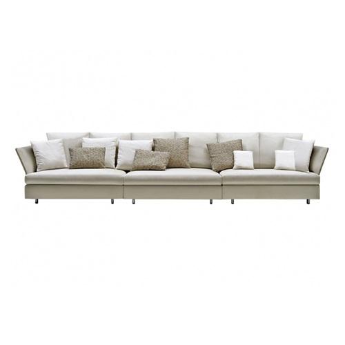 高端会所包房现代简约直排意式时尚皮革沙发