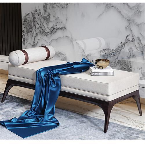 新中式高档别墅会所实木沙发
