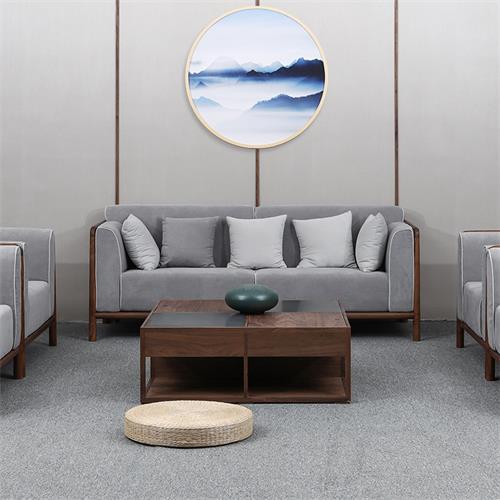 养生会所沙发娱乐会所高级新中式实木家具