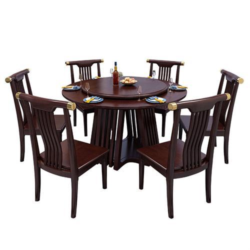 酒店会所现代新中式实木桌椅家具