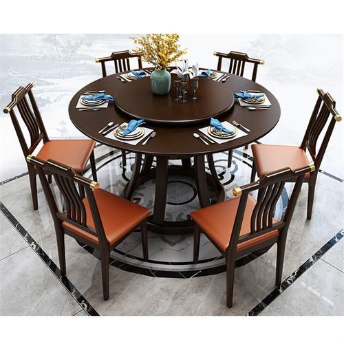 现代中式会所酒店实木桌椅家具