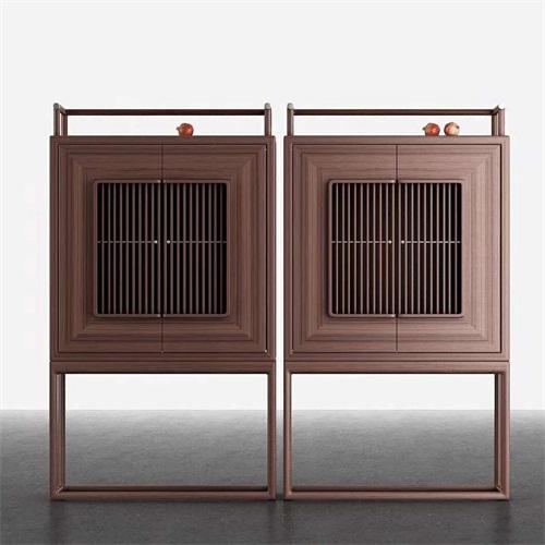 别墅豪宅新中式实木柜子会所家具