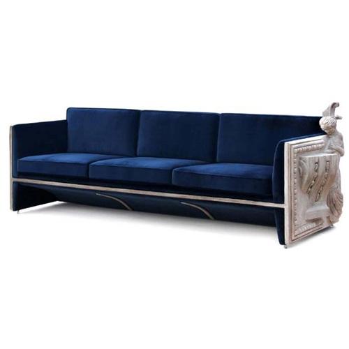 欧式现代创意酒店会所实木沙发家具