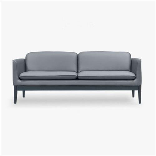 欧式简约皮革休闲沙发会所家具