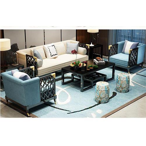 新中式会所接待沙发禅意轻奢家具