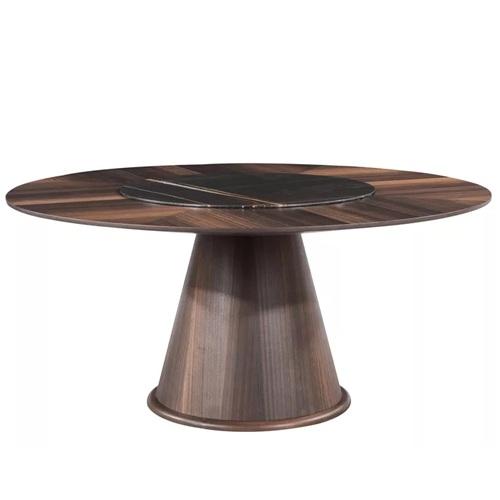 别墅豪宅新中式实木餐桌会所家具