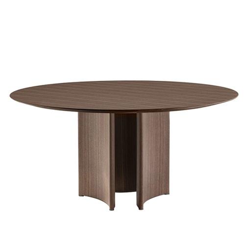 酒店会所新中式实木圆餐桌会所家具