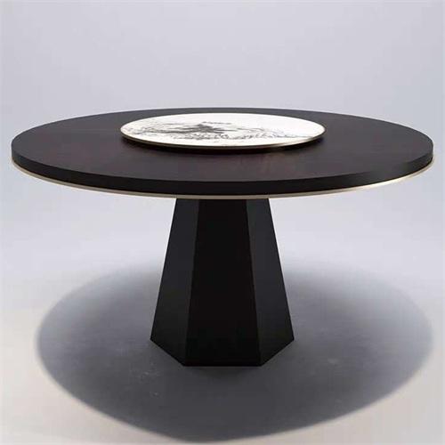 会所别墅不锈钢大理石餐桌家具