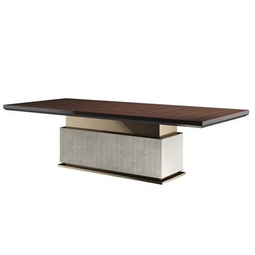 高档别墅会所新中式长餐桌家具定做