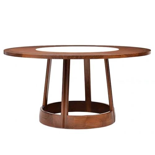 别墅会所中式古典实木桌椅家具