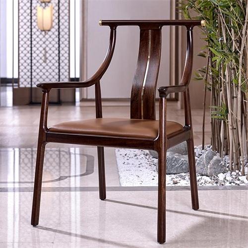 酒店高档会所新中式实木古典椅子