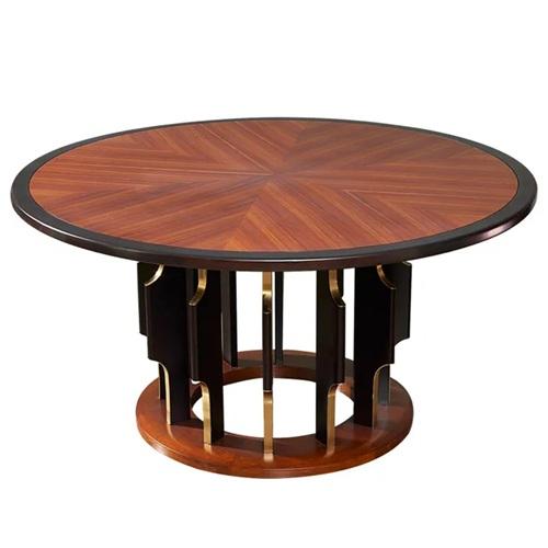 豪华会所家具时尚轻奢实木桌子