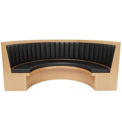 中式火锅烤肉店特色弧形实木卡座沙发