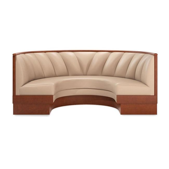 火锅店_西餐厅_咖啡厅弧形卡座沙发 皮革软包卡座沙发