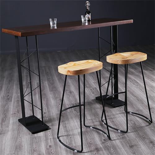 复古小酒吧优质实木酒吧桌
