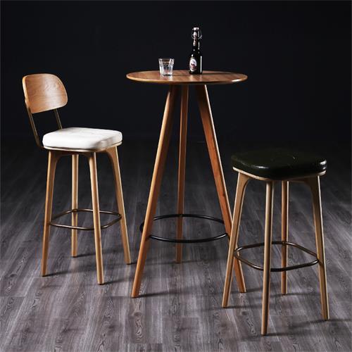 民谣酒吧铁艺实木复古酒吧桌