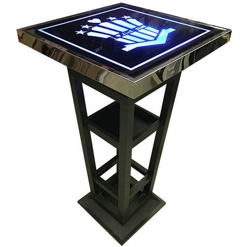 迪吧酒吧高脚散台桌子发光铁艺吧台定制