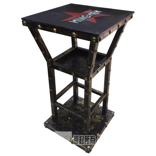 酒吧复古怀旧风格铁艺吧台桌家具_酒吧高脚散台桌