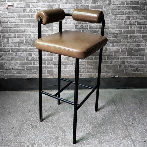 时尚清吧酒吧铁艺高腿椅子_现代高档吧台椅