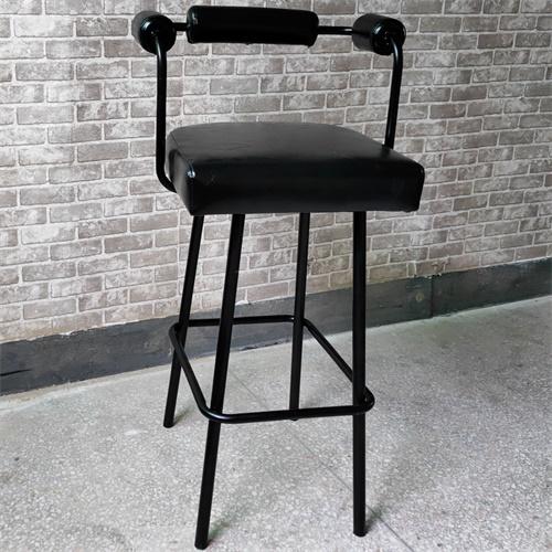 创意清吧高档吧台凳子_复古小酒吧高端现代吧台铁艺椅子