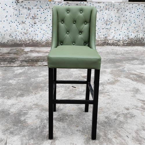 酒吧时尚高脚椅_现代酒吧高端实木软包酒吧椅