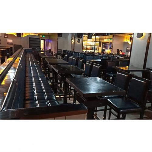 酒吧清吧实木台桌_苏荷酒吧桌椅沙发