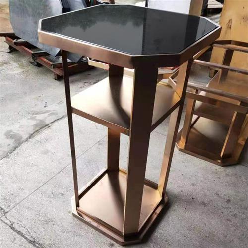 酒吧吧台桌不锈钢散台桌子_慢摇吧高脚桌子