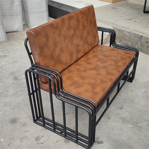 酒吧户外家具铁艺卡座_酒吧外场椅子