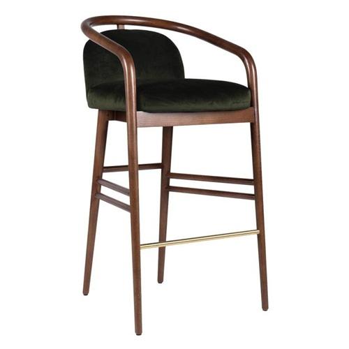 复古中式酒吧ktv实木高吧椅