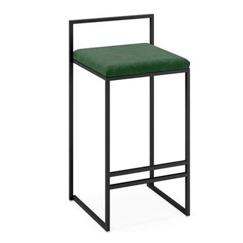 黑拉丝不锈钢酒吧椅_美式简约吧台椅