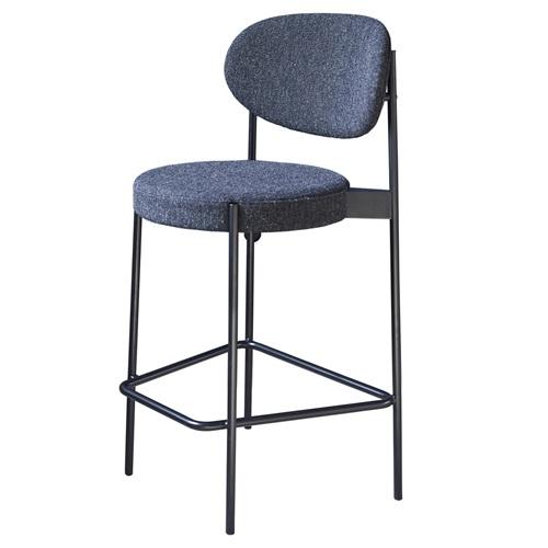 酒吧夜场铁艺吧台椅_高腿软包吧椅